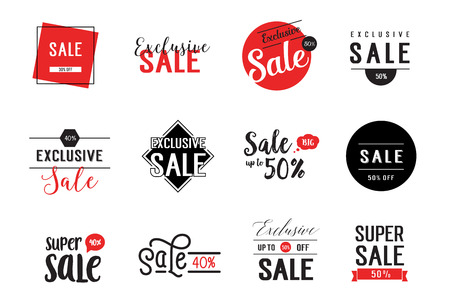 40: Twelve Sale Letterings Set