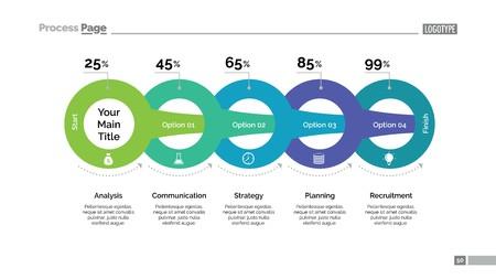 progressing: Circles Percentage Chart Slide Template