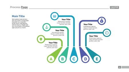 Five Callouts Slide Template