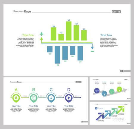 reviews: Four Optimization Slide Templates Set Illustration
