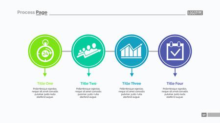 Four Options Slide Template Stock Illustratie