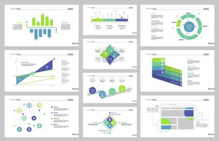 reviews: Ten Business Slide Templates Set Illustration