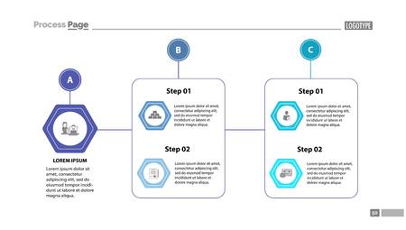 Complex process chart slide template.