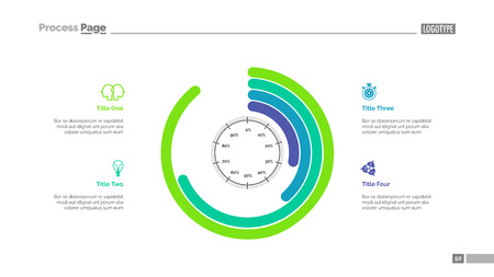 Informative infographics slide template