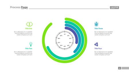Informative infographics slide template Illustration