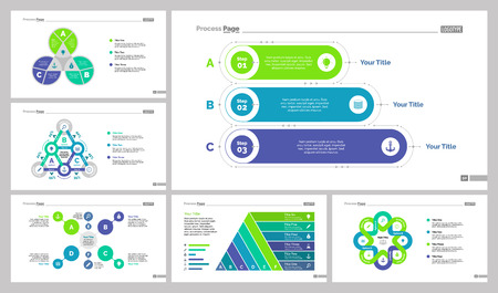 Six Planning Slide Templates Set Illustration
