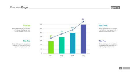 monitor: Four columns bar chart slide template. Business data. Option, diagram, design. Creative concept for infographic, presentation. Can be used for topics like management, research, statistics.