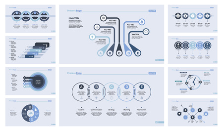 Process and workflow chart set Illustration