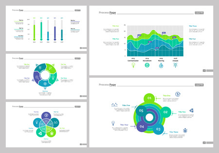 Data analysis set can be used for workflow layout, web design, annual report. Expertise concept with bar and line graphs, area, steps, options and process charts