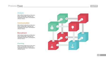 Creative Cube Diagram Slide Template Illustration