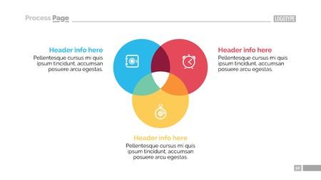 円形の図表スライド テンプレート  イラスト・ベクター素材