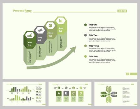 Four Production Slide Template Set Illustration