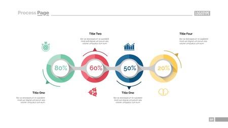 Business goal achievement slide template Illustration