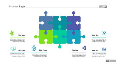 6 요소 템플릿으로 퍼즐 다이어그램