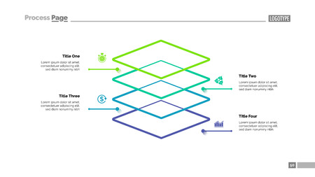Level Diagram with Four Elements Template