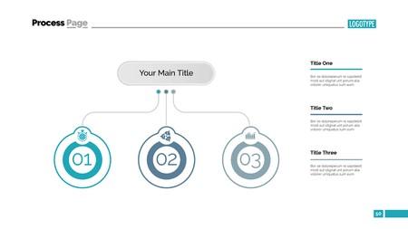 Three Business Ideas Slide Template Illustration