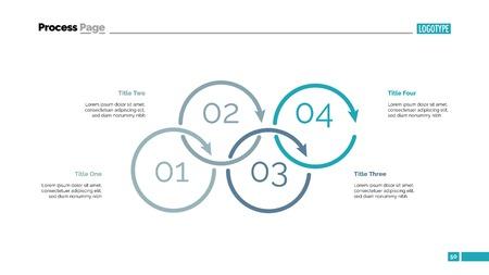 Process Diagram with Four Elements Slide