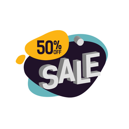 Fifty Percent Off Sale Lettering on Blot