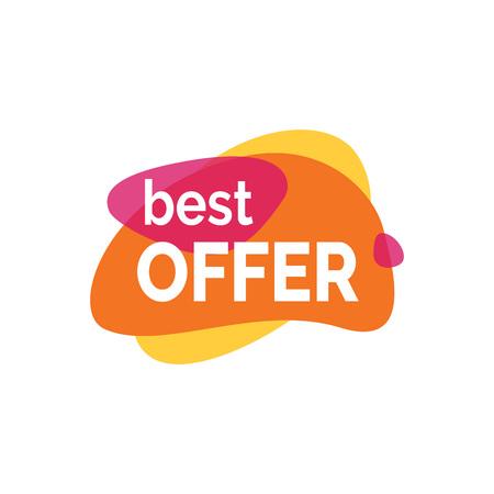 Best Offer Inscription on Paint Blots