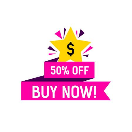 Buy Now Creative Banner Illustration
