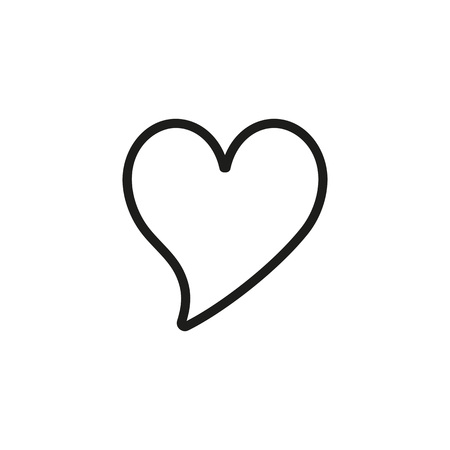 Line icon of bubble heart. Passion, love, affection. Heart concept. Can be used for topics like Valentine Day, feelings, relations
