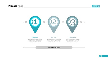 Stages of achieving goal slide template Illustration