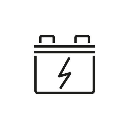 Car battery line icon. Illustration