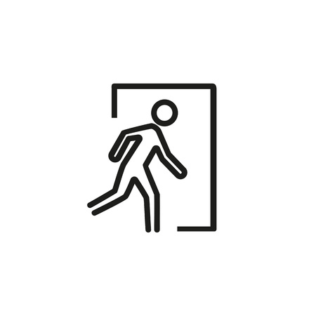 Emergency exit icon