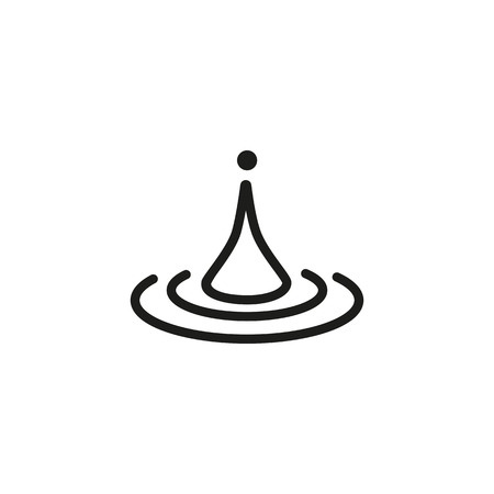 Water drop line icon in outlined style illustration.