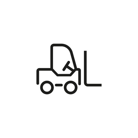 Forklift line icon in outlined style illustration.