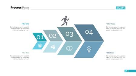 Four Steps Development Slide Template Vector illustration.