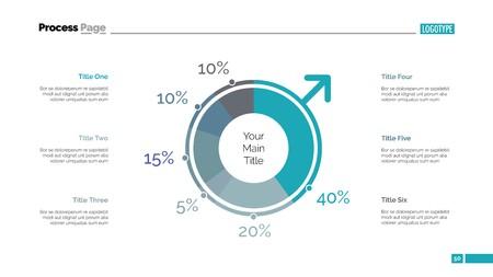 A business graph  on plain background Ilustrace