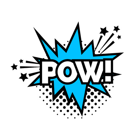 Pow lettering with explosion
