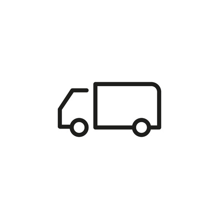 Truck line icon on plain background. Vectores