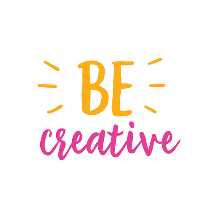Be Creative Lettering. Illustration