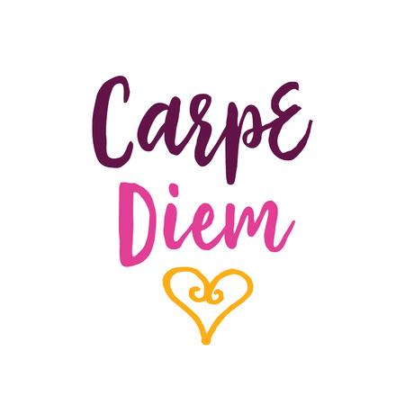 Carpe Diem Lettering with Heart.