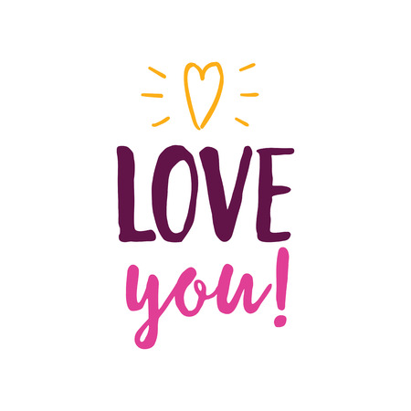 Love You Lettering with Heart.
