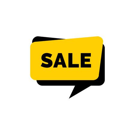 Sale Lettering on Yellow Speech Bubble.
