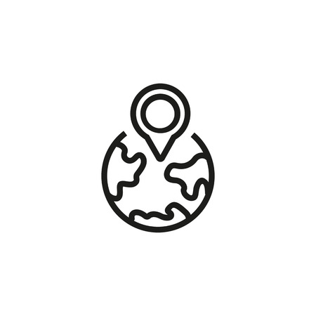 Line icon of local SEO symbol. Country, destination, location. Travel concept. Can be used for maps, guides, signboards
