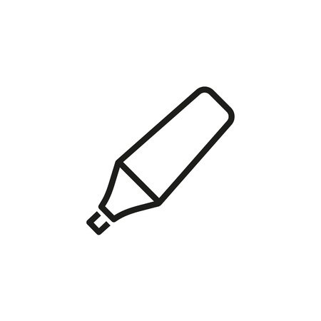 Icon of marker pen. Fineliner, felt-tip marker, highlighting. Writing instrument concept. Can be used for topics like note, design, art, drawing Stock Illustratie