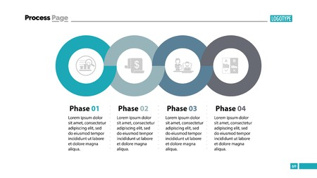 Four phases process template. Business data. Graph, chart, design. Creative concept for infographic, report.