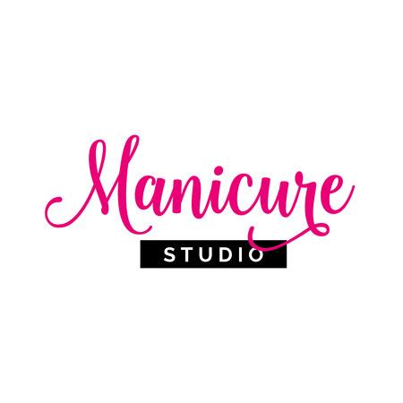 Manicure Studio Lettering Vector illustration.
