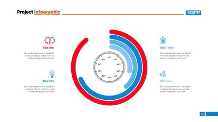 Informative infographics slide template. Illustration