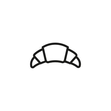 Fresh croissant icon Vector illustration.