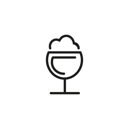 Frothy drink icon Vector illustration. Çizim