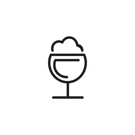 Frothy drink icon Vector illustration. Illustration
