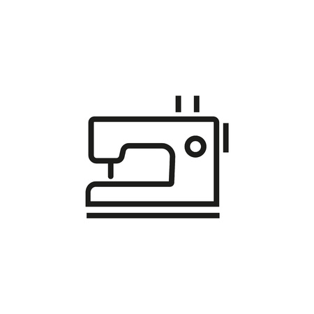 Icon of sewing machine. Patching, tailoring, dressmaking. Skill concept. Can be used for topics like industry, handmade, production