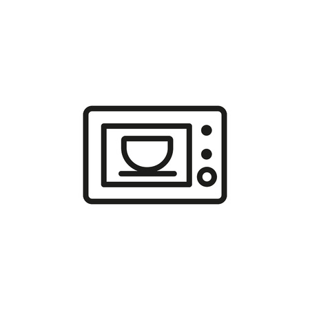Microwave Oven Line Icon