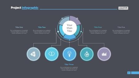 Modelo de slide de estrutura de negócios