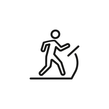 Man on Treadmill Line Icon